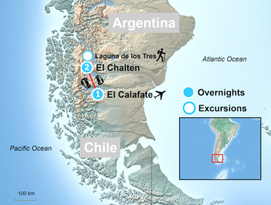 Map of El Calfate tour