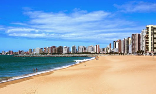 Fortaleza beach and downtown