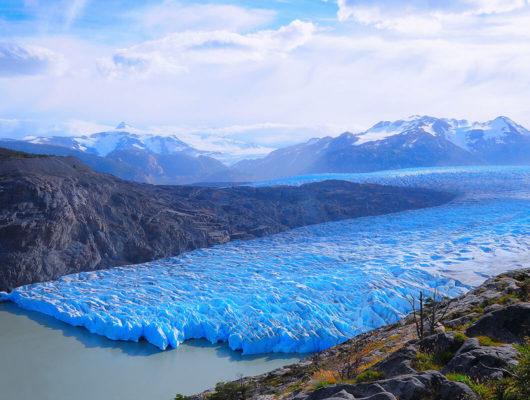 Aerial view of Grey Glacier