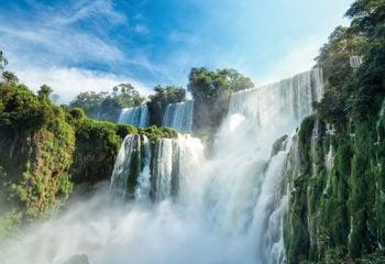 View Iguazu Falls from below