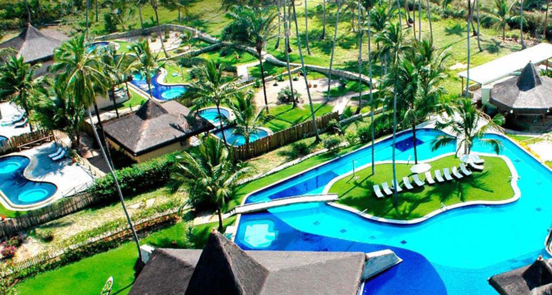 Aerial view over pool area at Kiaroa Eco-Luxury Resort