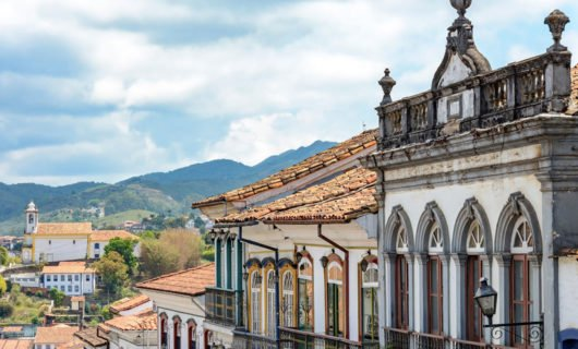 Ouro Preto street with historic homes
