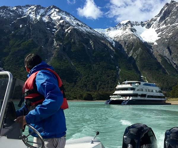 Guests exploring Patagonia on Patagonia Cruise