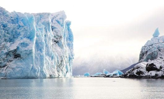 foggy day at Perito Moreno Glacier