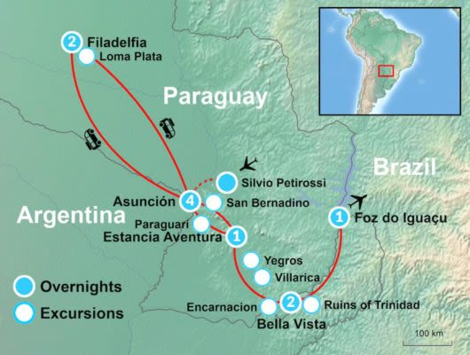 Iguazu Falls Itinerary Map