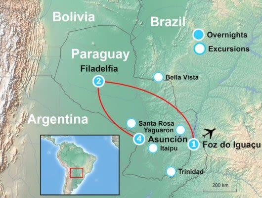 Tour Map of Itaipu