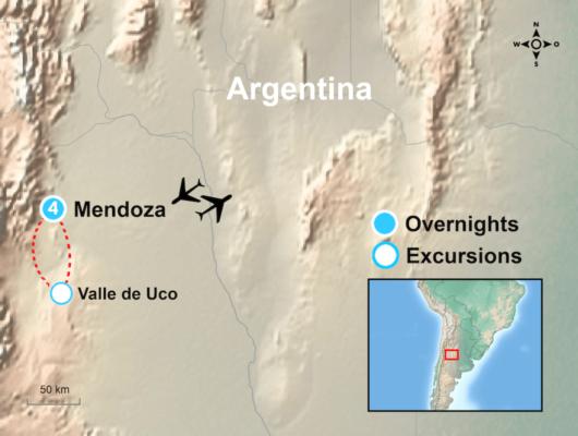 Mendoza Tour Map