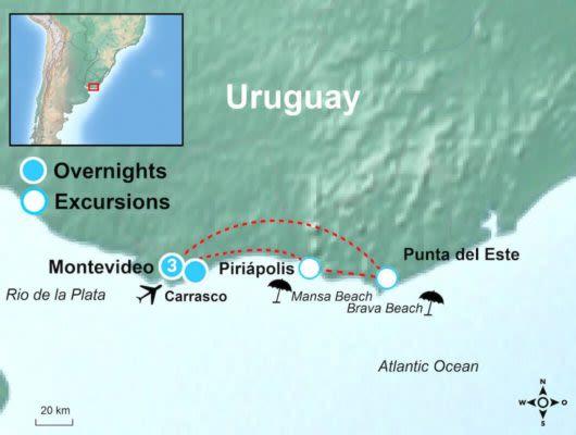 tour Map Montevideo