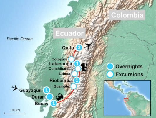 Tour Map of Guayaquil