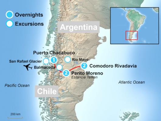 Patagonia Glacier maps