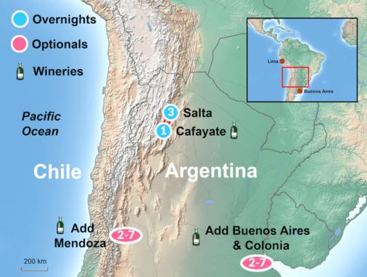 Salta Tour Map