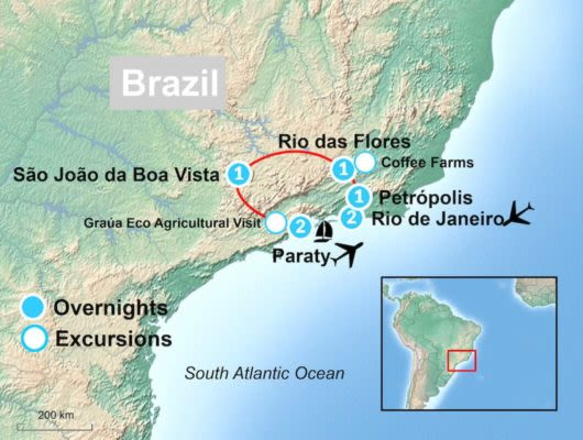 Brazil Coffee Route Map
