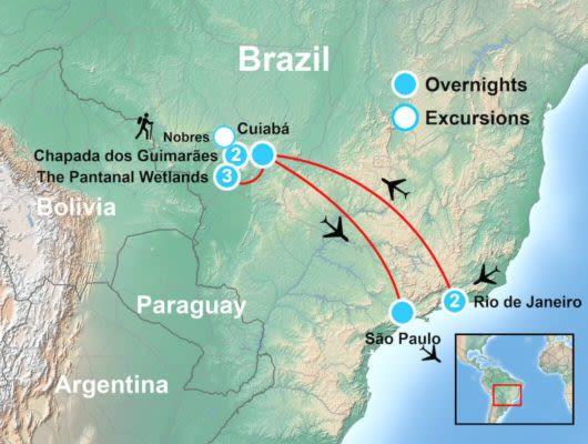 Map of the Pantanal