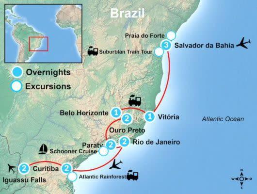 Complete Brazil Train Tour Map