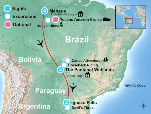Amazon Itinerary Map