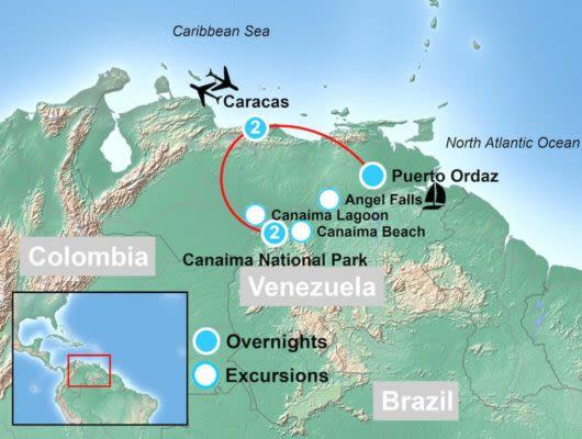 Highlights of Venezuela Map