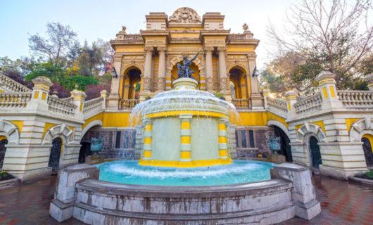 Santa Lucia Hill entrance and fountain