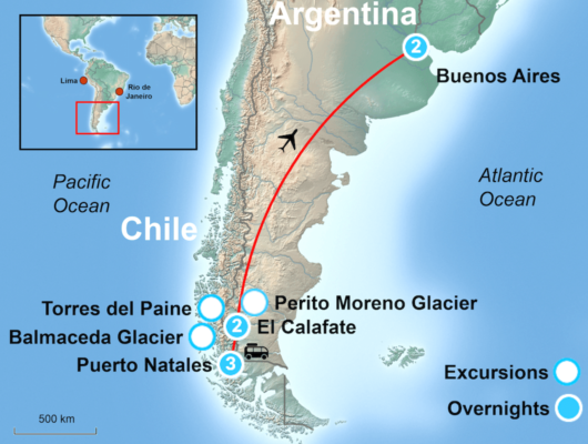 Torres del paine tour itinerary