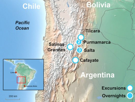 Argentina Tour Map