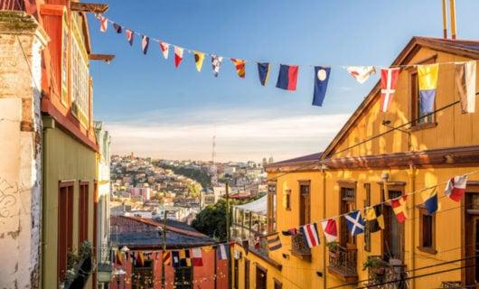 beautiful view over Valparaiso