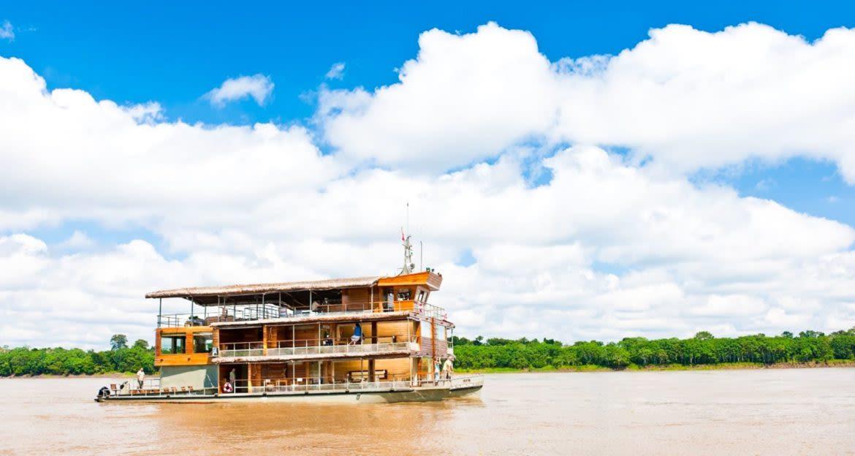 Amazon cruise boat on river