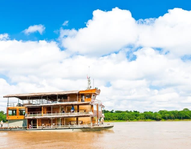 Amazon cruise boat on river