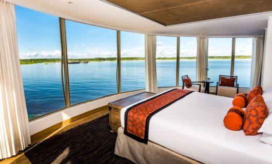 Bedroom of Amazon Delfin Cruise ship