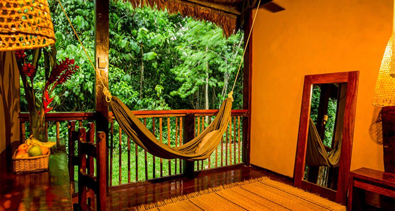 Hammock hangs in suite of Amazon