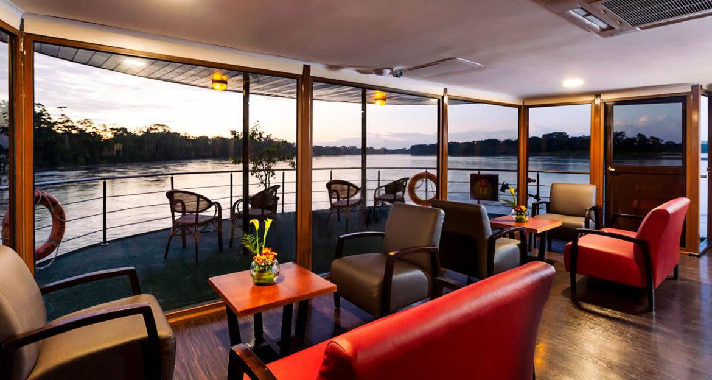 Lounge of Anakonda cruise ship