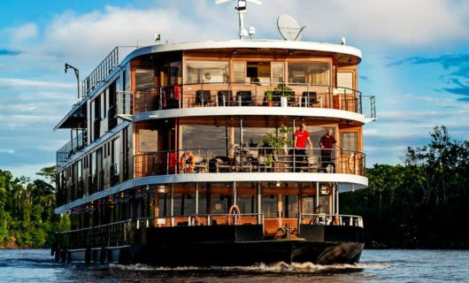 Front view of Anakonda Amazon Cruise ship