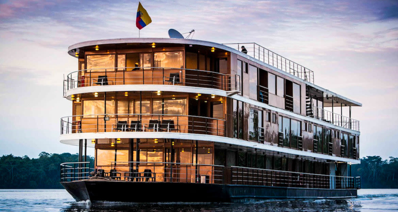 Anakonda cruise ship on Amazon river