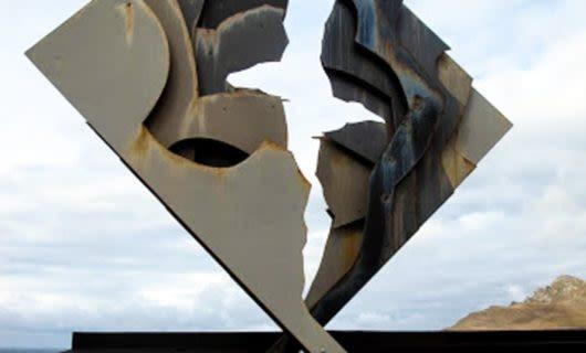 Modern art sculpture in Antarctica