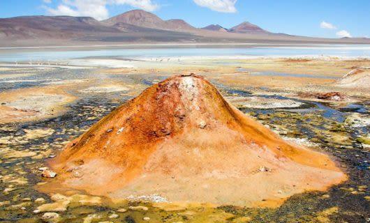 Desert landscape in Argentina