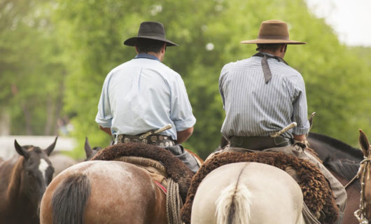 Two cowboys at Argentine Estancia