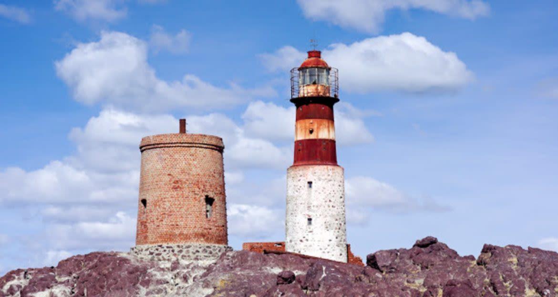 Lighthouse on coast of Santa Cruz, Argentina