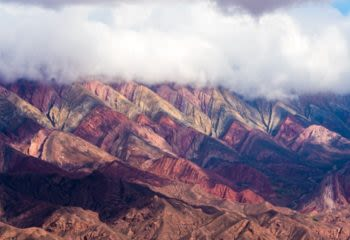 Mountain of fourteen colors in Argentina