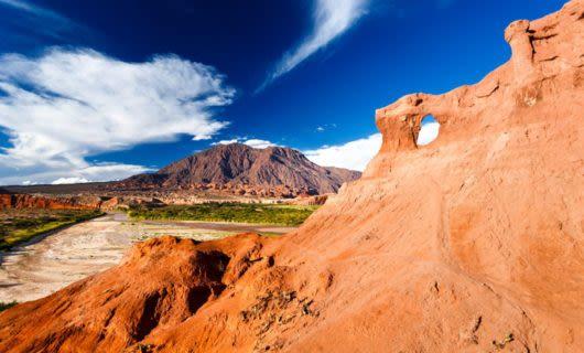 Rock structure of Argentina ravine