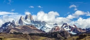 snowcapped mountains in argentine patagonia