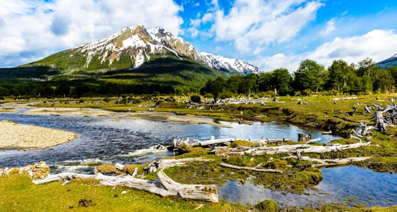 Mountain in Ushaia region of Argentina