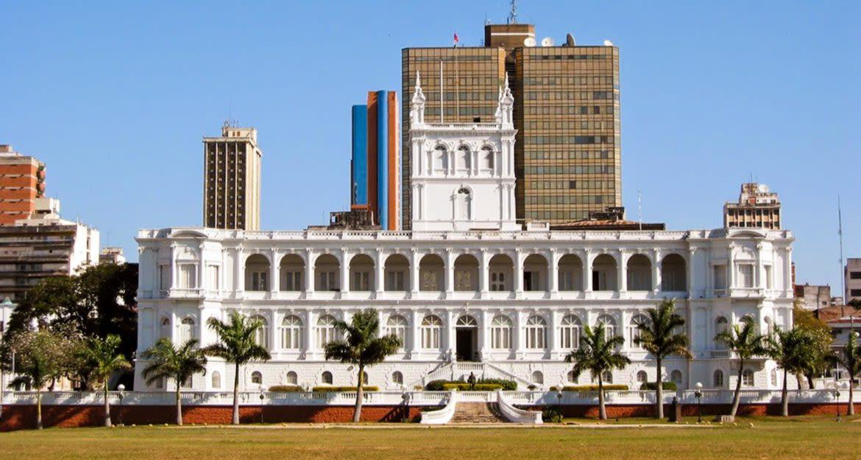 Presidential palace in Asuncion