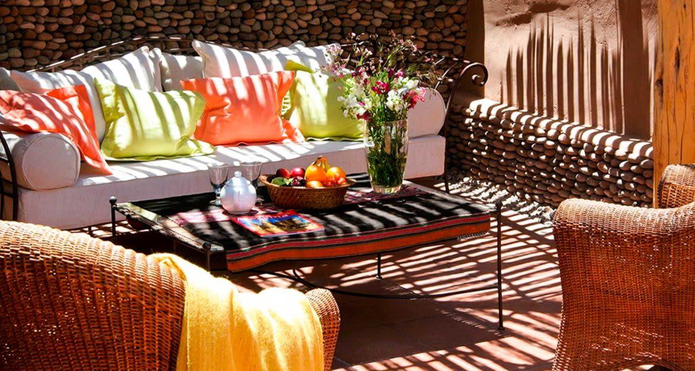 Outdoor couch and chairs at Awasi Atacama Lodge