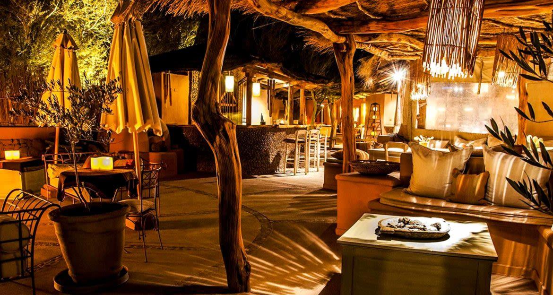 Lounge area of Awasi Atacama Lodge