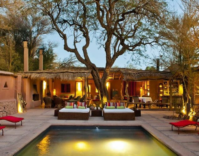 Outdoor pool of Awasi Atacama Lodge