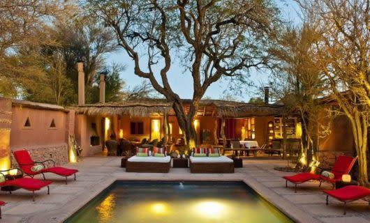 Outdoor pool of Awasi Atacama Lodge