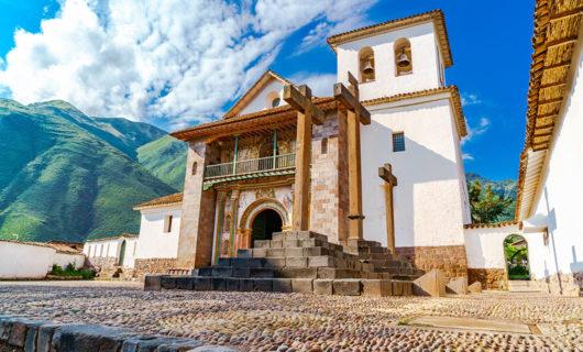 beautiful church in Cusco Peru