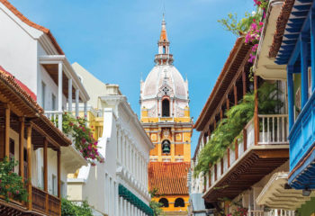 Colorful Buildings in Cartagena Colombia on Venezuela Vacations