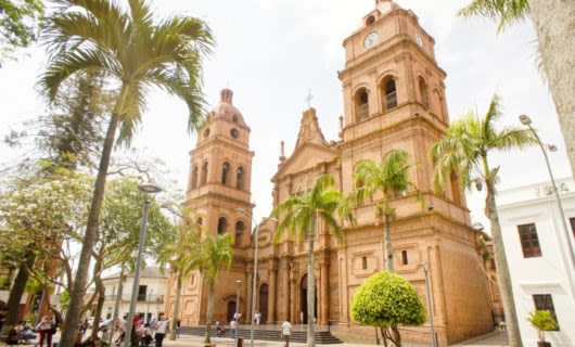 Light brown cathedral in Bolivia