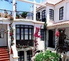 decorative white hotel
