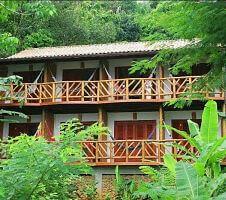 Ilha Grande Pousada balconies and jungle
