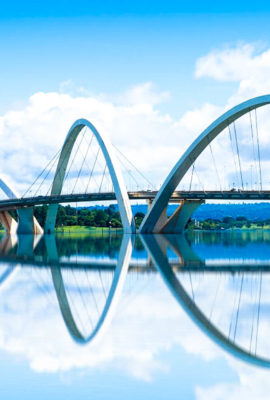 Famous bridge in Brasilia City